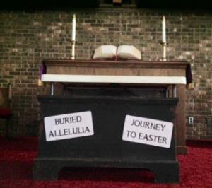 Burying Alleluia Sanctuary